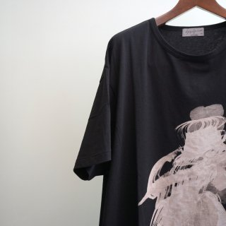 YOHJI YAMAMOTO BIG丸首半袖ハット女プリントTシャツ(HV-T08-072)
