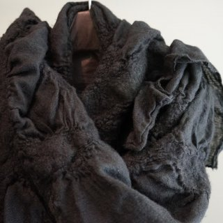 BIEK VERSTAPPEN wool tussah scarf(04)