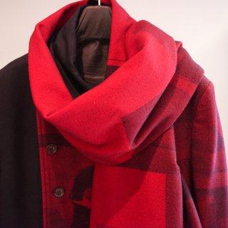YOHJI YAMAMOTO 赤フラノストール ジャケット(HV-J29-822)