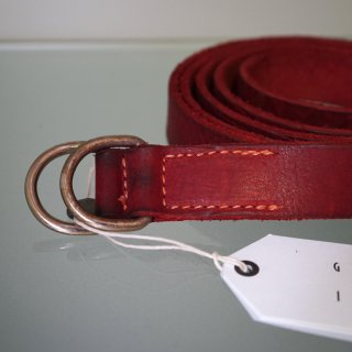 GUIDI BISON FULL GRAIN LEATHER BELT(BLT)RED