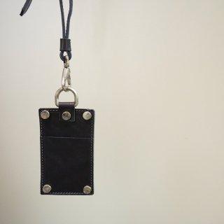 incarnation CALF SHOULDER LEATHER CARD CASE(31814SL-8720)BLK
