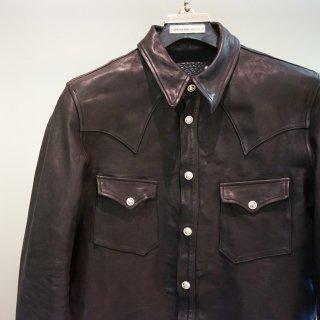 BACKLASH the line イタリアンカーフ下地製品染めシャツ(T-003)