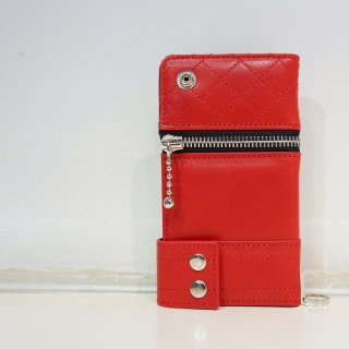 ISAMU KATAYAMA BACKLASH イタリアンショルダー レザー携帯ケース(705-04)RED