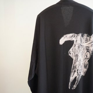 YOHJI YAMAMOTO スタンドカラー長袖牛柄(HC-T06-072)