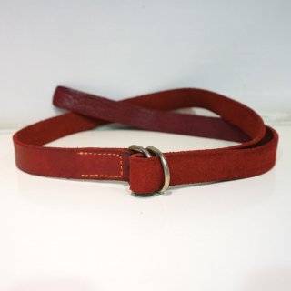 GUIDI BISON FULL GRAIN LEATHER BELT(BLT)RED