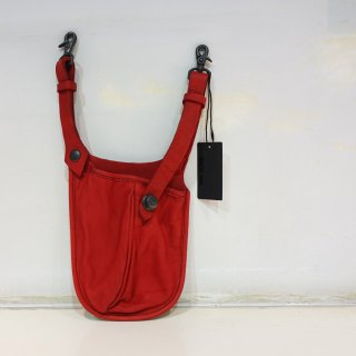 ISAMU KATAYAMA BACKLASH ダブルショルダー フルタンニン製品染めウェストバッグ(92-04)RED