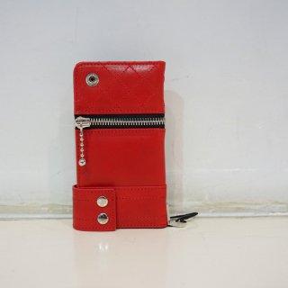 ISAMU KATAYAMA BACKLASH イタリアンショルダー レザースマホケース(705-04)RED