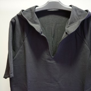incarnation CO92%EL8% CUT&SAWN CUT HOODED RAGLAN #2 SHORT SLEEVE(32085-3400)