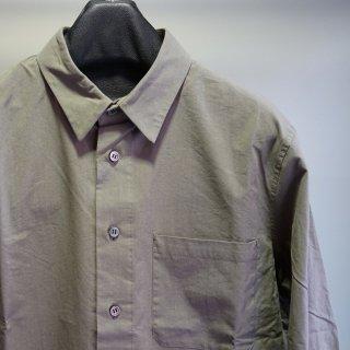 ISAMU KATAYAMA BACKLASH コットン レギュラーカラー シャツ(1894-01)