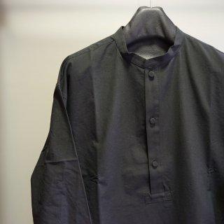 ISAMU KATAYAMA BACKLASH コットン バンドカラー プルオーバーシャツ(1894-02)