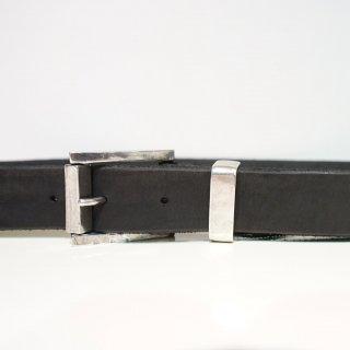 ISAMU KATAYAMA BACKLASH ダブルショルダー製品染め35mmベルト(318-27)BLK