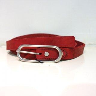 ISAMU KATAYAMA BACKLASH ダブルショルダー製品染め25mmベルト(318-30)RED