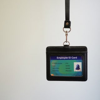 ADANS LEATHER ID card CASE(AD201AC07)BLK