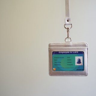 ADANS LEATHER ID card CASE(AD201AC07)SLV
