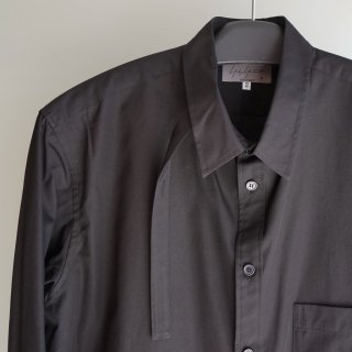 YOHJI YAMAMOTO ロング タブ付き シャツ(HN-B19-014)BLK