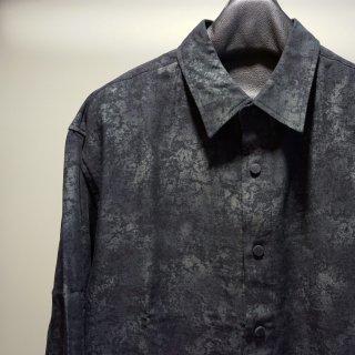 ISAMU KATAYAMA BACKLASH コットンレーヨン オーバーシャツ(1822-03)D.BLK