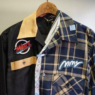 Maison MIHARA YASUHIRO mix pattern long sleeve shirts(A04SH152)