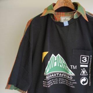 Maison MIHARA YASUHIRO shirts docking zip t-shirt(A04TS681)