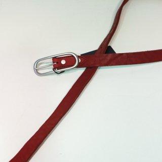 ISAMUKATAYAMA BACKLASH ダブルショルダー製品染め25mmベルト(318-30)RED