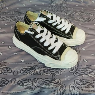 MAISON MIHARA YASUHIRO Toe cap Original sole Canvas Sneaker Low top(A05FW02)BLK
