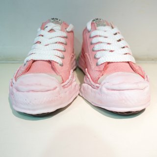 MAISON MIHARA YASUHIRO Toe cap Original sole Overdyed Canvas Low top Sneaker(A05FW06)PNK