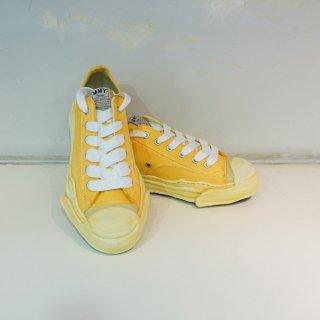 MAISON MIHARA YASUHIRO Toe cap Original sole Overdyed Canvas Low top Sneaker(A05FW06)YEL