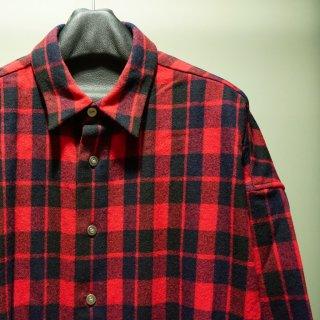 ISAMUKATAYAMA BACKLASH ウールチェック オーバーシャツ(1859-02)