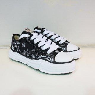 Maison MIARA YASUHIRO original sole bandana printed canvas low sneaker(A06FW732)BLK