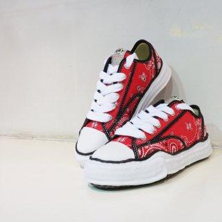 Maison MIARA YASUHIRO original sole bandana printed canvas low sneaker(A06FW732)RED