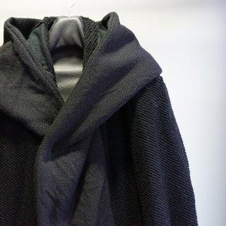 bajra ウール平織×綾パイル フーデッドコート(138BC01)