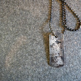 ISAMU KATAYAMA BACKLASH jun uezono SILVER DOG TAG NECKLACE(J-474-02)