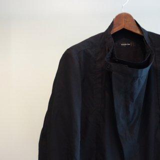 YASUYUKI ISHII 二枚襟風ドレープシャツ(201303-148)BLK