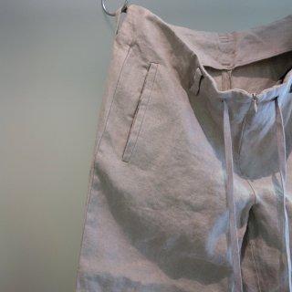 bajra リネン綾織りタンブラー ワイドパンツ(119BP05)BEG