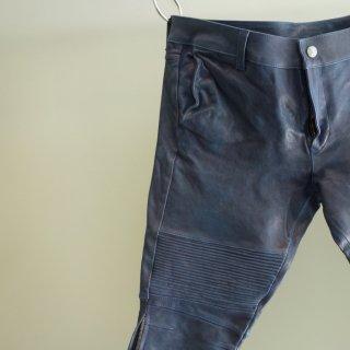 BACKLASH ジャパンホース製品染めバイカーショートパンツ(1367−14)BLU