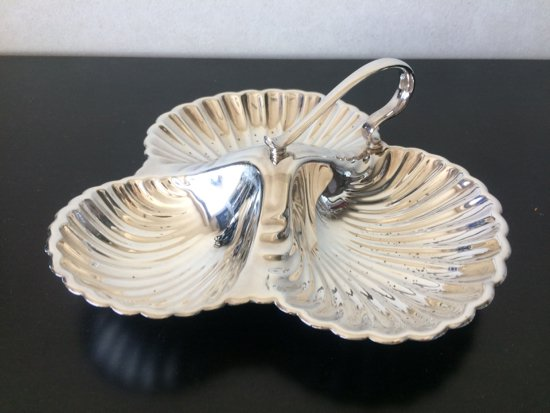 Silver Plated/William Suckling LTD/KINGSWAY PLATE(ウィリアムサックリング・クローバートレイ・イングランド)