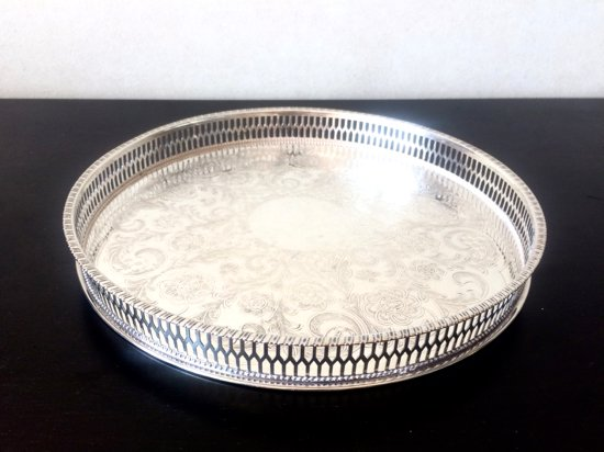 Silver Plated /Sheffield/Viners/ シルバープレイテッド・シェフィールド・バイナーズ社・トレイ26.5cm A