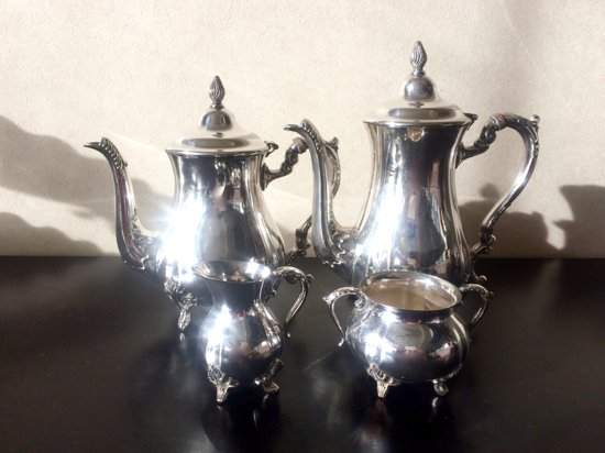 Silver Plated /Viners/Tea&Coffee Set(シルバープレイテッド・ヴァイナー・ティー&コーヒーセット・イングラン…