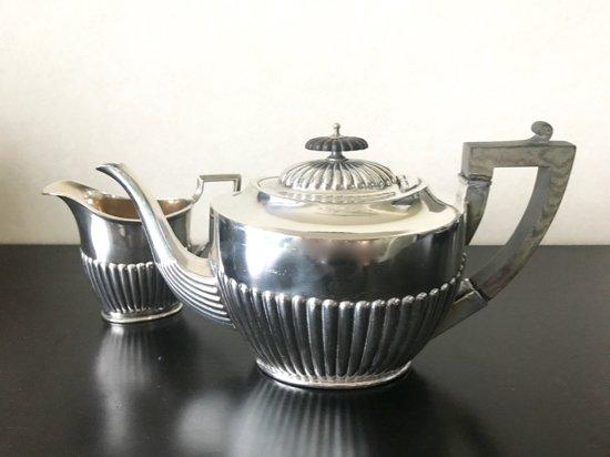 Silver Plated /JR&S/Tea Pot&Milk Jug set (シルバープレイテッド・JR&S  ティーポット&ミルクジャグ・イングランド)