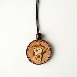 木はり絵ペンダント「メキシカンバード」