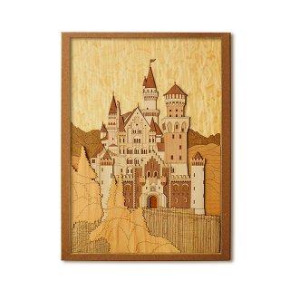 木はり絵手作りキット「ノイシュヴァンシュタイン城」