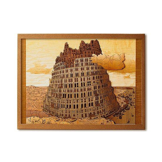 【送料無料】木はり絵手作りキット「バベルの塔Ⅱ」