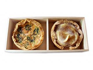 キッシュロレーヌ×レモンと林檎のパイ