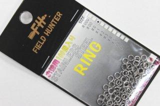 フィールドハンター スプリットリング S.RING シルバー #0 徳用100本入り