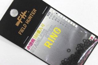 フィールドハンター スプリットリング S.RING ブラック #00 徳用100本入り