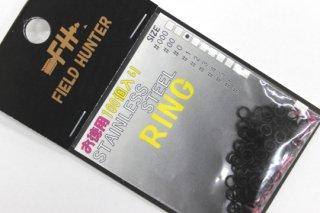 フィールドハンター スプリットリング S.RING ブラック #0 徳用100本入り