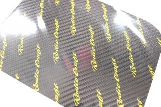 ロデオクラフト RCカーボンステッカー #ブラック/イエローロゴ