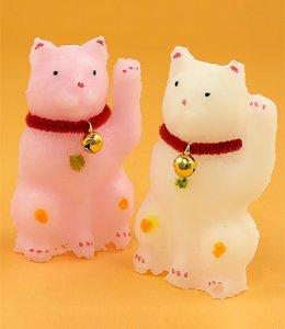 紅白招き猫