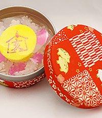 迎春えと缶(紅) 「亥(いのしし)」
