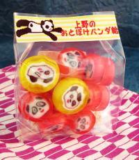上野のおとぼけパンダ飴