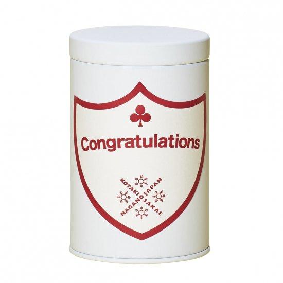 新米出荷!コタキホワイトギフトCAN「Congratulations」ラベルギフトボックス(3個入)